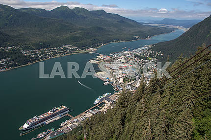 Top view of the city. Juneau, Alaska