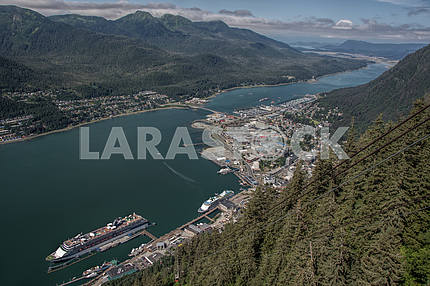 Top view of the city. Juneau, Alaska
