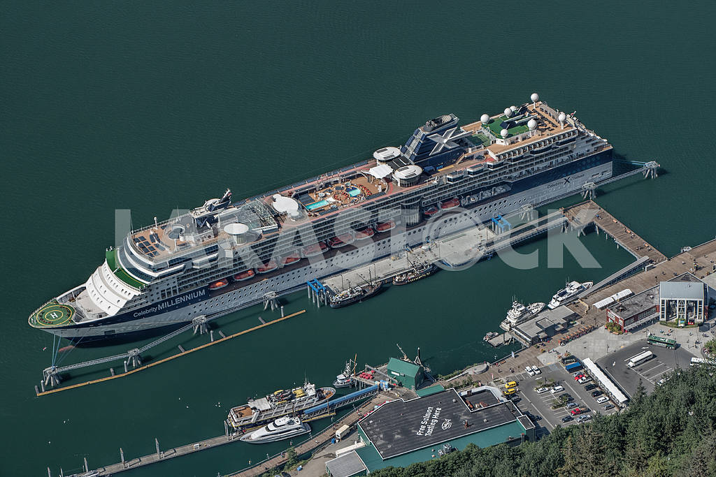 View from the bird's-eye view. Juneau, Alaska — Image 36066