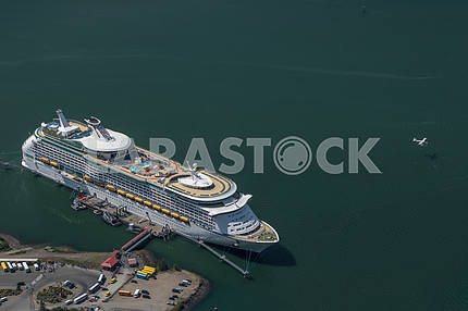 Cruise ship moored to the pier. Juneau, Alaska