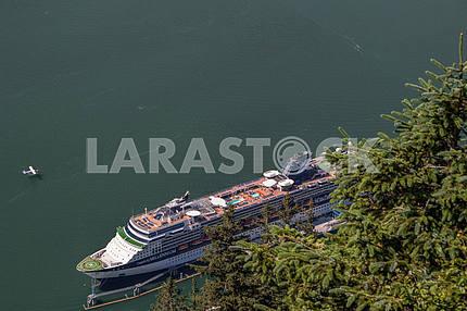 Cruise ship in port. Juneau, Alaska