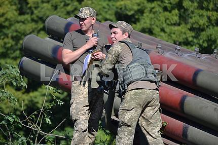 "Train RSZV ""Hurricane"" in the area of ​​the ATO"