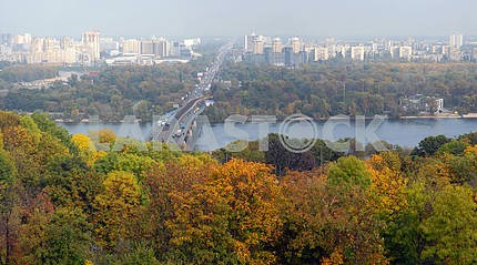 Panorama of Kiev and the river Dnepr