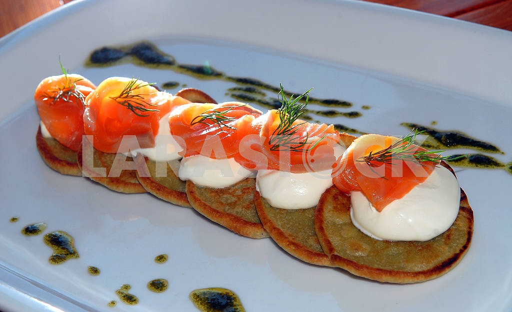Fritters from a nettle with a salmon — Image 3658