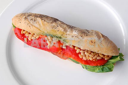 Sandwich with a salmon