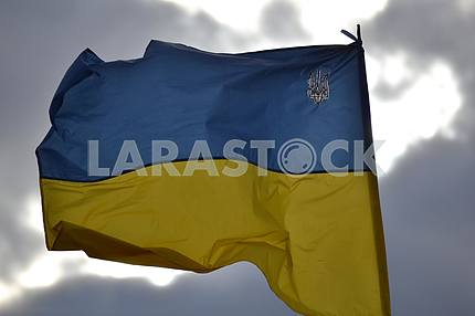 Flag of Ukraine in the zone of the ATO