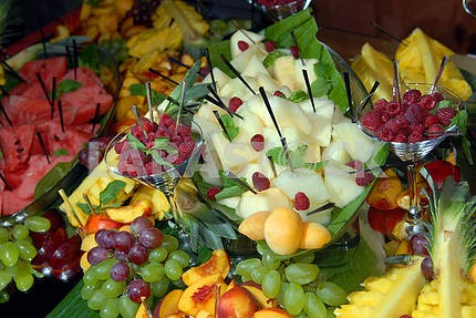 fruit on a buffet table