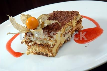 Tiramisu with a chocolate crumb