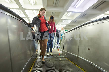 Незрячие в метро