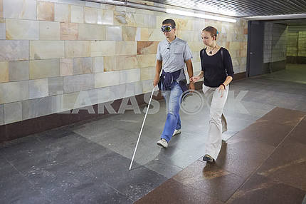 Blind in the subway