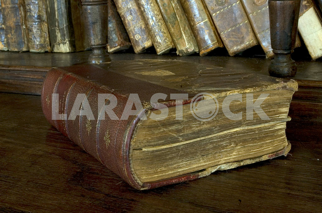 The old book lies on a regiment — Image 3754