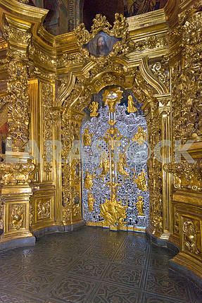Silver Royal Doors of the iconostasis of St. Sophia Cathedral in 2008