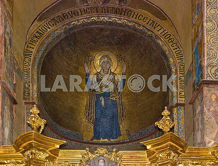 Virgin Orans Wall Indestructible. Mosaic of St. Sophia Cathedral in Kiev. 1040-ies.