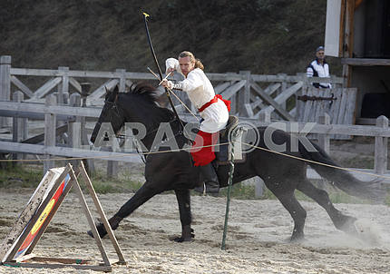 Archer archery on horseback