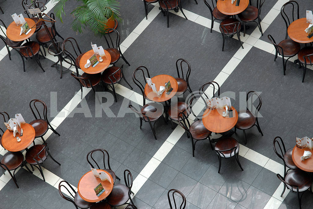 Little tables in cafe — Image 3841