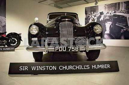 Winston Churchill car Humber Pullman in the Louwman Museum in The Hague Humber Pulman