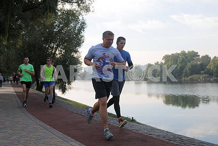 Mayor of Kiev Vitali Klitschko together with his brother Vladimir tested a new treadmill to Kiev
