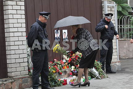 Flowers to the Memory Wall in the Dnieper