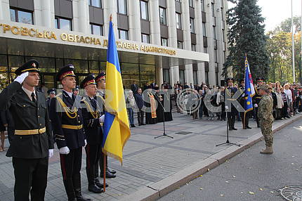 Solemn send-off of draftees for military service in the Armed Forces in the Dnieper