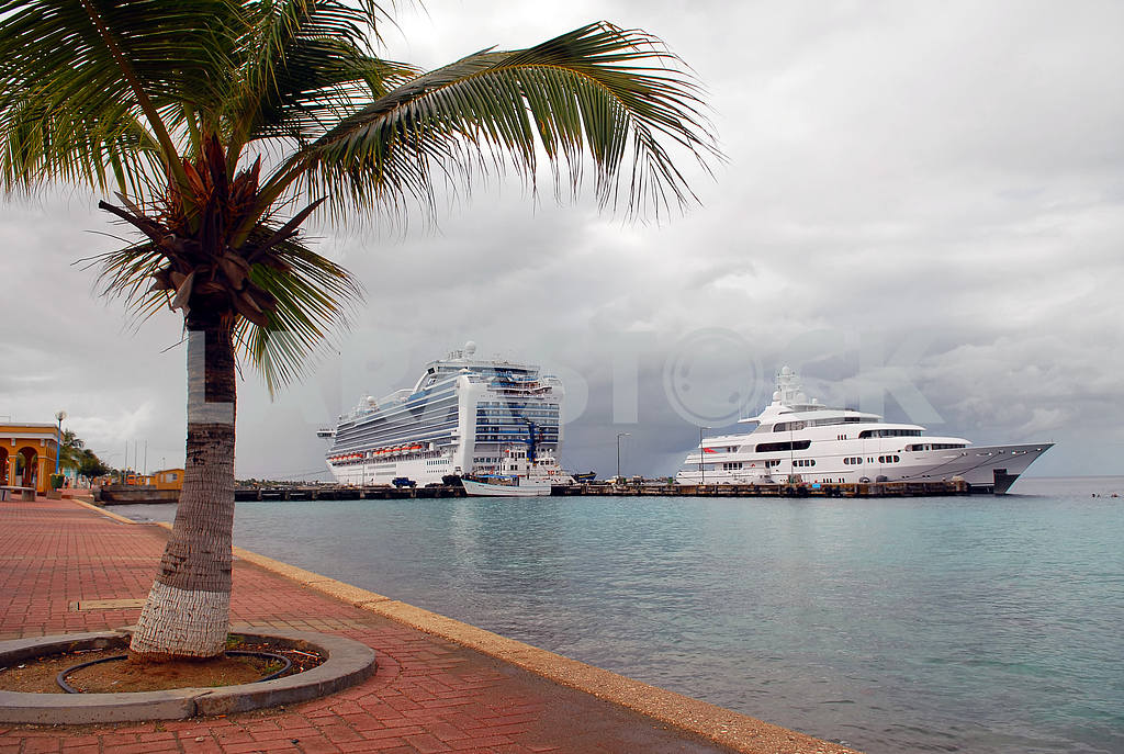 The ocean liner at a mooring on island Bonaire — Image 3866