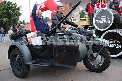 Motorcycle Zundapp KS 750 at the exhibition