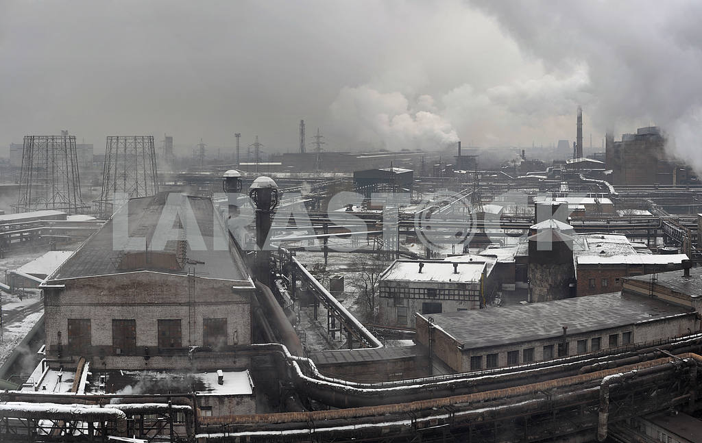 Industrial landscape of metallurgical industrial complex — Image 3875