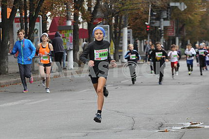 In the Dnieper the marathon race took place
