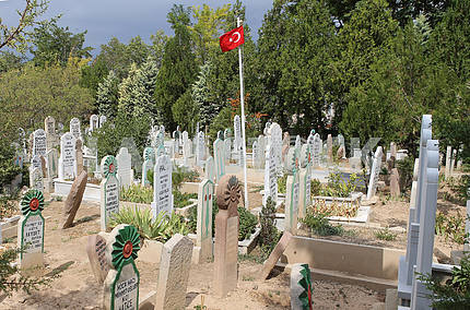Мусульманское кладбище в Конье