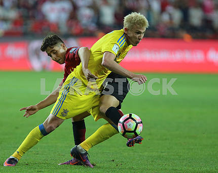 Victor Kovalenko during the match Turkey - Ukraine