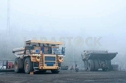 Truck at repairs