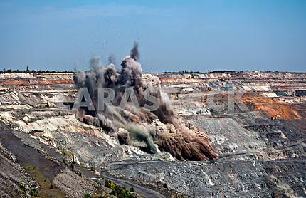 Blast in open cast mine
