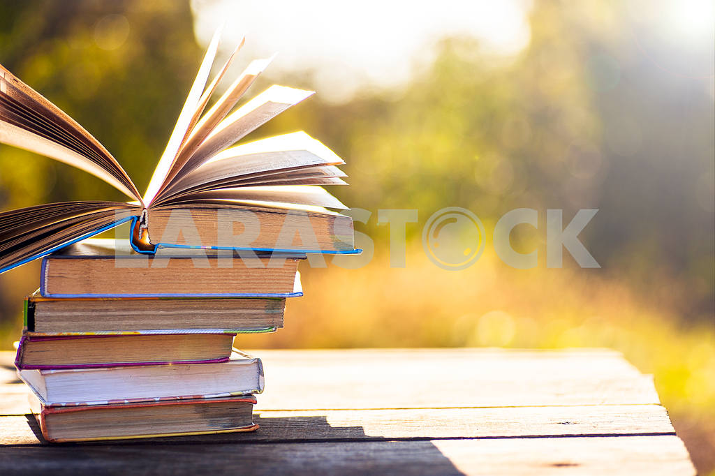 Books on natural background. — Image 41858