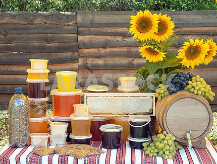honey and sunflowers