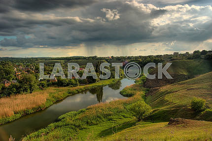 River and hills