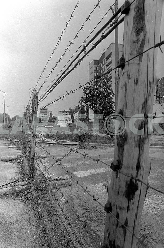 Fenced with barbed wire the town of Pripyat — Image 42558