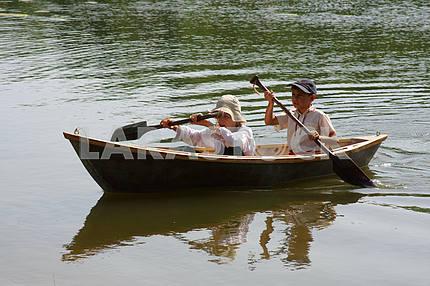Boys Run a Boat