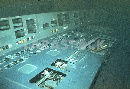 Control panel of the 4th block of the ChNPP
