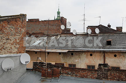Roofs in the center of Lviv
