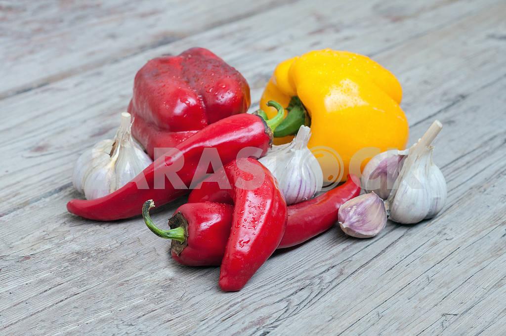 Pepper, garlic and paprika — Image 4282