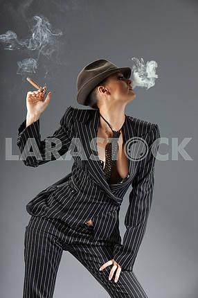 Smoking gangster girl