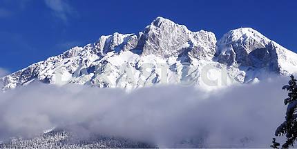 Alpine summit in Tyrol, Austria