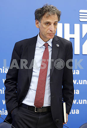 Half-length portrait of Ambassador Extraordinary and Plenipotentiary of Israel to Ukraine Eliav Belotserkovskii