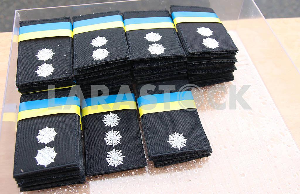 Officers' police shoulder straps — Image 46100