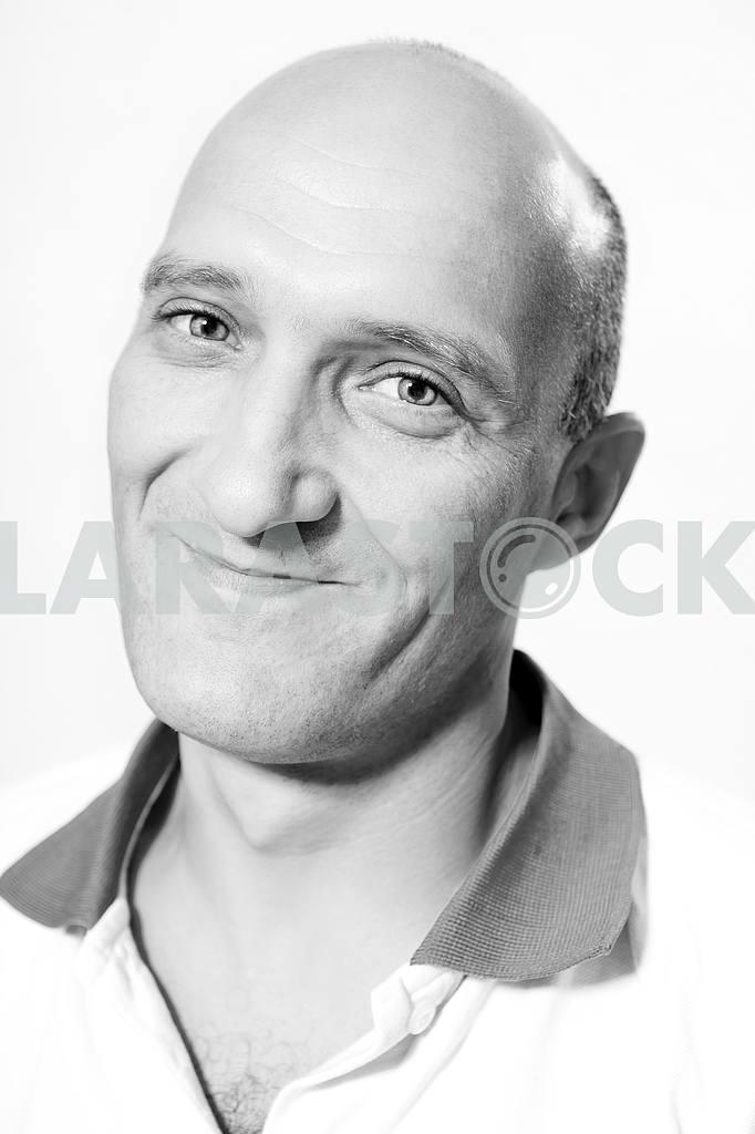 Portrait bald men happy smiles. — Image 4633