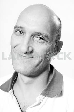 Портрет лысые мужчины счастливые улыбки .