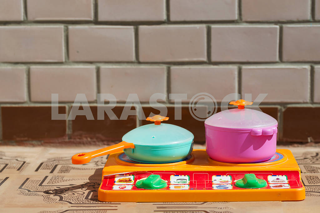 Image of children's dishes  close-up. Copy space — Image 46788