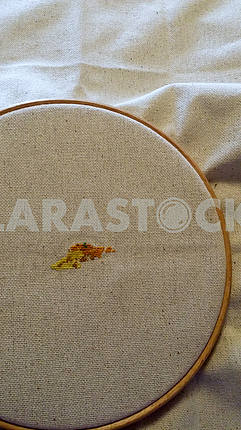Cross Stitch with Hoop