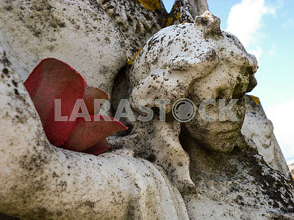 Carved Angel Headstone