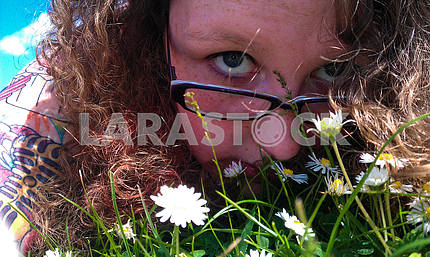 Woman and Daisies