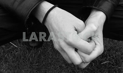 Clasped Man's Hands